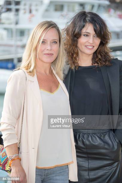 Actresses Marie Guillard and Anne Charrier attends Marjorie il etait une Fois Photocall during the 19th Festival of TV Fiction at La Rochelle on...