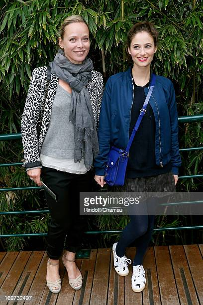 Actresses Marie Guillard and Melanie Bernier attend Roland Garros Tennis French Open 2013 Day 6 on May 31 2013 in Paris France