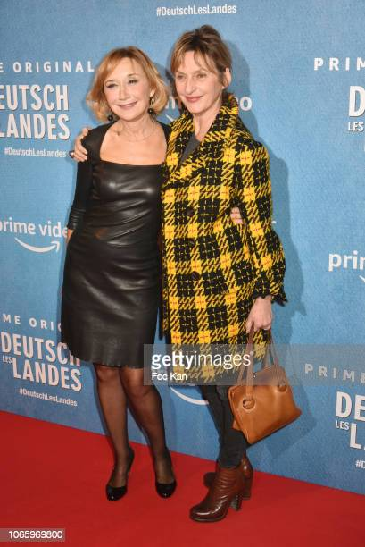 Actresses MarieAnne Chazel and Sophie Mounicot attend 'Deutsch Les Landes' Premiere at Cinema Gaumont Capucines on November 27 2018 in Paris France