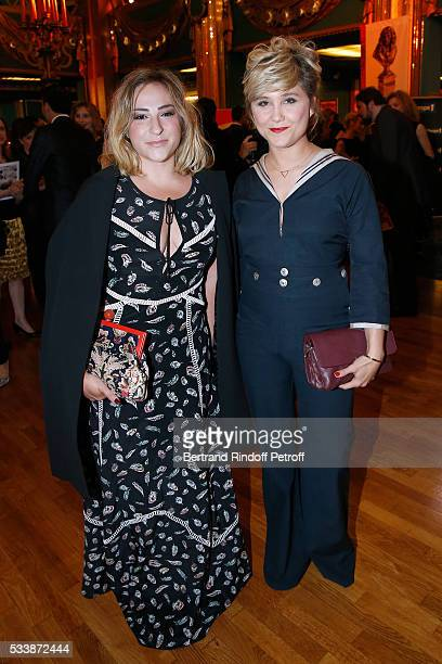 Actresses Marilou Berry and Berengere Krief attend 'La 28eme Nuit des Molieres' on May 23 2016 in Paris France