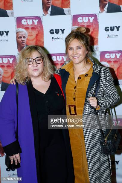 Actresses Marilou Berry and Berengere Krief attend the Alex Lutz's concert with the Group of singer Guy Jamet which he played in the movie Guy at...
