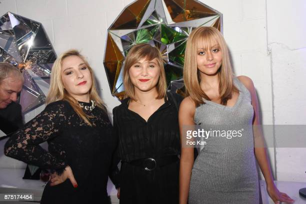 Actresses Marilou Berry Berangere Krief and Zahia Dehar attend the 'Second Life' By Le Diamantaire Private Exhibition Preview at Atelier Philippe...