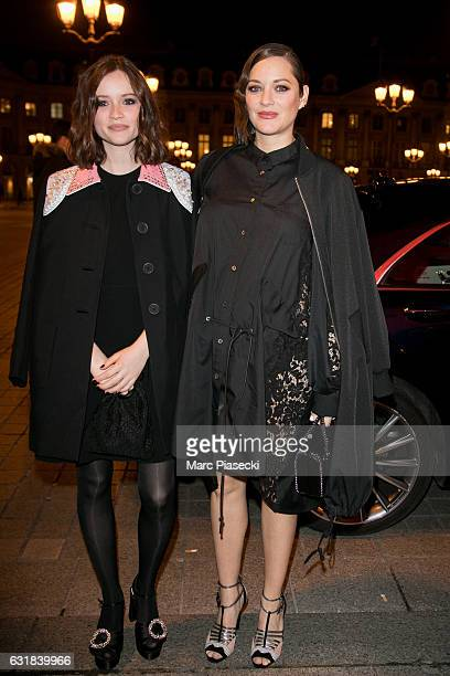 Actresses Marilyn Lima and Marion Cotillard attend 'CHAUMET Cesars Revelations 2017' cocktail on January 16 2017 in Paris France