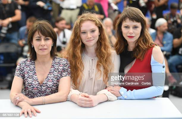 Actresses Marilyne Canto Charlotte Cetaire and Barbora Bobulova attend the Dopo La Guerra Apres La Guerre photocall during the 70th annual Cannes...