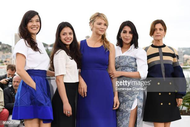 Actresses Marina Fois Leila Bekhti Virginie Efira Noee Abita and Melanie Doutey attend the photocall for 'Sink Or Swim ' during the 71st annual...