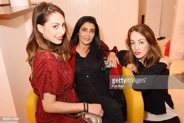 Actresses Marion Burah Fatima Adoum and Julette Besson attend Avellino Cocktail Party at Avellino Store Rue de Richelieu on September 25 2017 in...