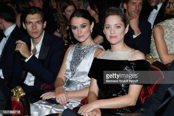 Actresses Marion Cotillard Keira Knightley and her husband James Righton attend the Opening Season Paris Opera Ballet Gala as part of the Paris...