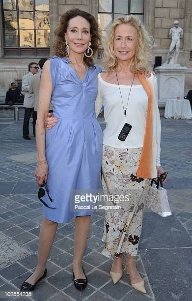 Actresses Marisa Berenson and Brigitte Fossey attend the reception for the '23rd Fete Du Cinema' Reception At Ecole Superieure Des Beaux Arts on June...