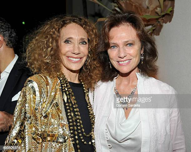Actresses Marisa Berenson and Jacqueline Bisset attend a private dinner hosted by Marisa Berenson at Peninsula Hotel on October 21 2015 in Beverly...