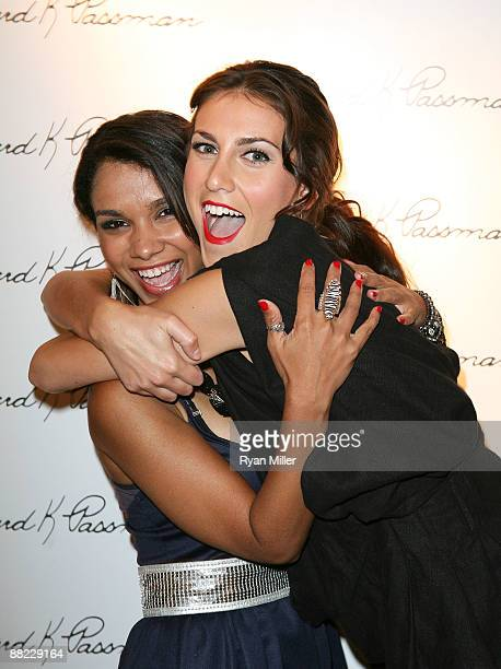 Actresses Marisa Lauren and Andrea Guttag pose during GoCi fashion show hosted by Shiva Rose held at the Bernard K Passman Gallery and Museum on June...