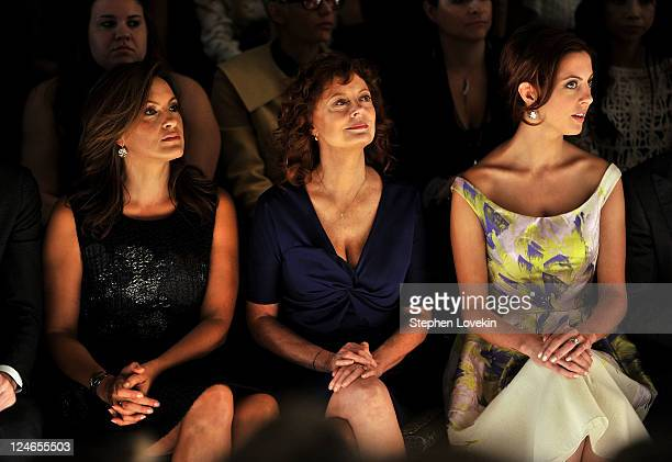 Actresses Mariska Hargitay Susan Sarandon and Eva Amurri attend the Lela Rose Spring 2012 fashion show during MercedesBenz Fashion Week at The Studio...