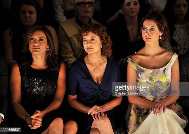 Actresses Mariska Hargitay Susan Sarandon and Eva Amurri attend the Lela Rose Spring 2012 fashion show during MercedesBenz Fashion Week at The Studio...