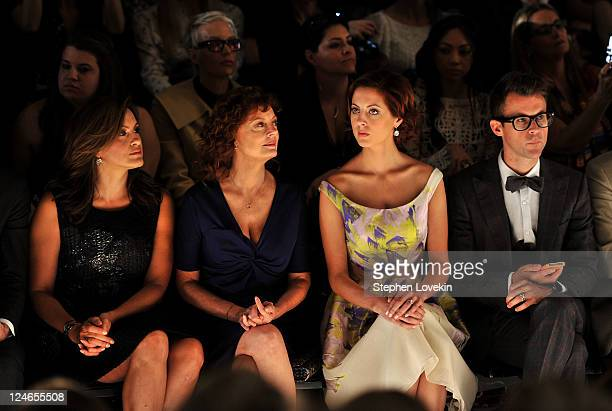 Actresses Mariska Hargitay Susan Sarandon Eva Amurri and Brad Goreski attend the Lela Rose Spring 2012 fashion show during MercedesBenz Fashion Week...