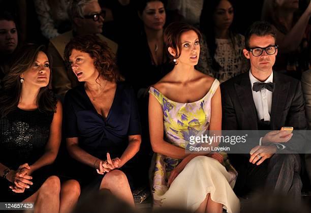 Actresses Mariska Hargitay, Susan Sarandon, Eva Amurri and Brad Goreski attend the Lela Rose Spring 2012 fashion show during Mercedes-Benz Fashion...