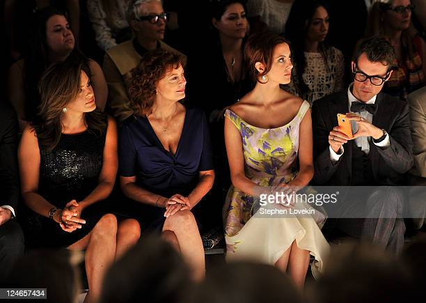 Actresses Mariska Hargitay Susan Sarandon Eva Amurri and Brad Goreski attend the Lela Rose Spring 2012 fashion show during MercedesBenz Fashion Week...