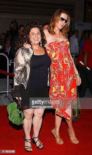 Actresses Marissa Jaret Winokur and Lucy Lawless attend the opening night of 'The Ten Commandments The Spectacle Musical' at the Kodak Theatre...