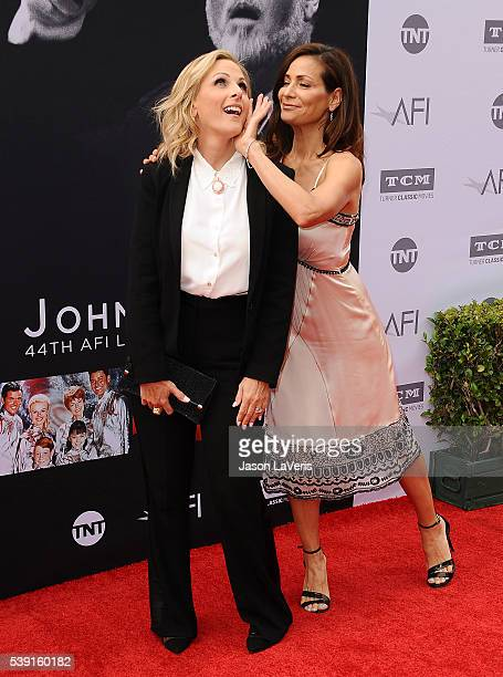 Actresses Marlee Matlin and Constance Marie attend the 44th AFI Life Achievement Awards gala tribute at Dolby Theatre on June 9 2016 in Hollywood...