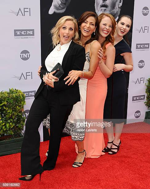 Actresses Marlee Matlin Constance Marie Katie Leclerc and Vanessa Marano attend the 44th AFI Life Achievement Awards gala tribute at Dolby Theatre on...