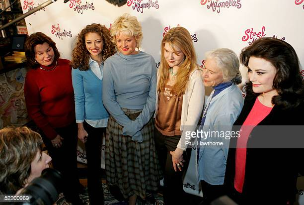 Actresses Marsha Mason Rebecca Gayheart Christine Ebersole Lily Rabe Frances Sternhagen and Delta Burke attend a media day announcement for the...