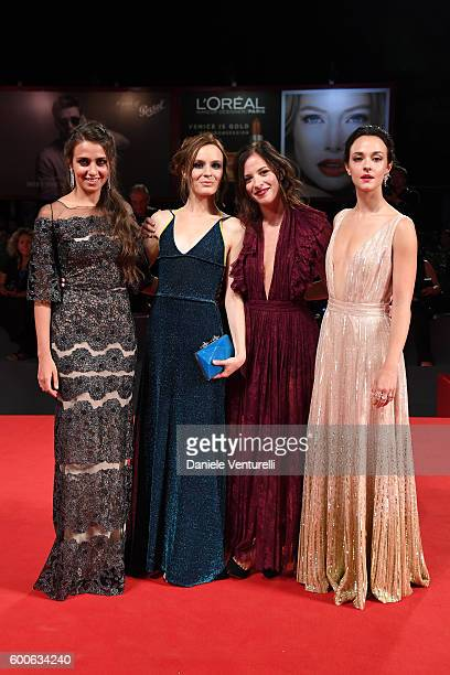 Actresses Marta Gastini Laura Adriani Maria Roveran and Caterina Le Casella attend the premiere of 'Questi Giorni' during the 73rd Venice Film...