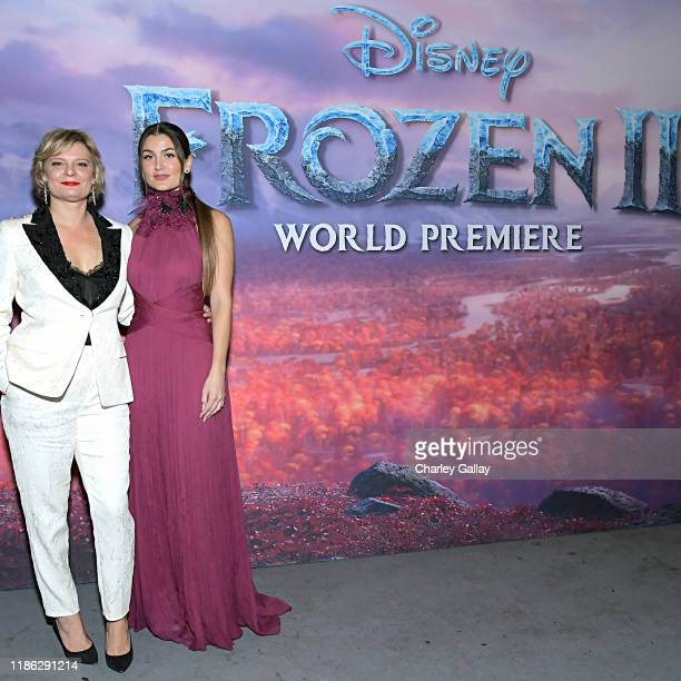 Actresses Martha Plimpton and Rachel Matthews attends the world premiere of Disney's Frozen 2 at Hollywood's Dolby Theatre on Thursday November 7...