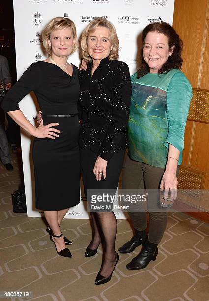 Actresses Martha Plimpton Sinead Cusack and Clare Higgins attend an after party celebrating the press night performance of The Old Vic's 'Other...