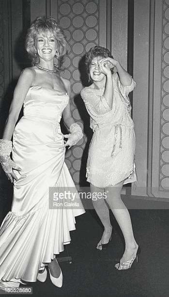 Actresses Martha Smith and Christopher Norris attend 25th Annual International Broadcasting Awards on March 19 1985 at the Century Plaza Hotel in...
