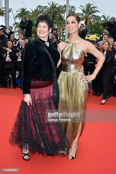 Actresses Martine Beswick and Berenice Marlohe attend the Vous N'avez Encore Rien Vu Premiere during the 65th Annual Cannes Film Festival at Palais...