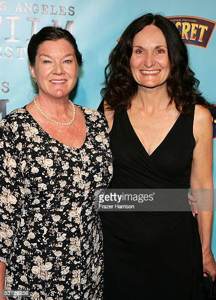 Actresses Mary Badham and Beth Grant arrives at the premiere of Our Very Own at the Los Angeles Film Festival at the Director Guild of America on...