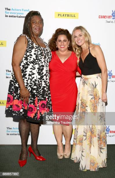Actresses Mary Bond Davis Marissa Jaret Winokur and Laura Bell Bundy attend Concert for America Stand Up Sing Out at Royce Hall on May 24 2017 in Los...