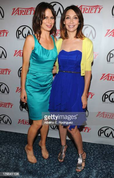 Actresses Mary Lynn Rajskub and Illeana Douglas attend The Producers Guild of America's Digital 25 2011 Leaders in Emerging Entertainment in...
