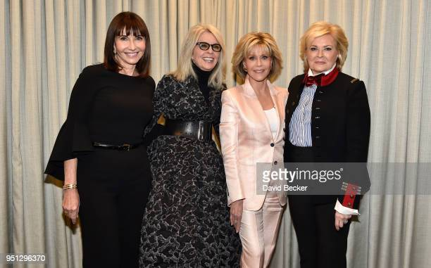 Actresses Mary Steenburgen Diane Keaton Jane Fonda and Candice Bergen attend Paramount Pictures Presentation at 2018 CinemaCon at The Colosseum at...