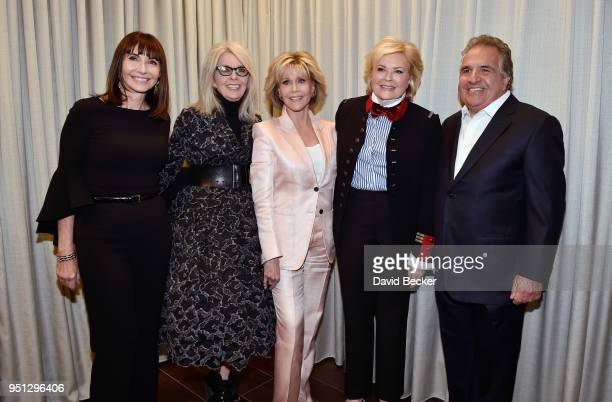 Actresses Mary Steenburgen Diane Keaton Jane Fonda Candice Bergen and Paramount Pictures Chairman and CEO Jim Gianopulos attend Paramount Pictures...