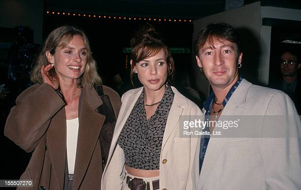 Actresses Maryam d'Abo Olivia d'Abo and musician Julian Lennon attending the screening of Greedy on February 22 1994 at Mann Bruin Theater in...