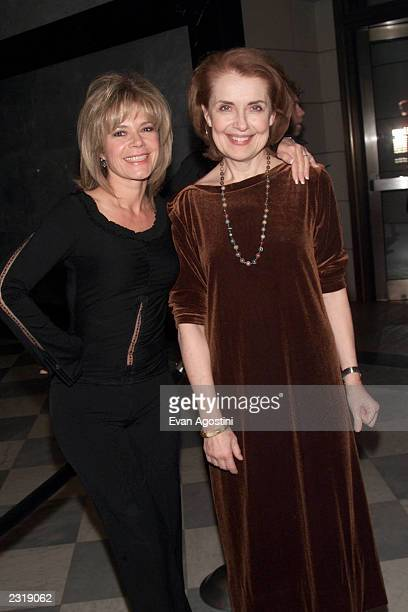 Actresses MaryMargaret Humes and Mary Beth Peil arriving at a celebration for the 100th episode of Dawson's Creek at the Museum of Television and...