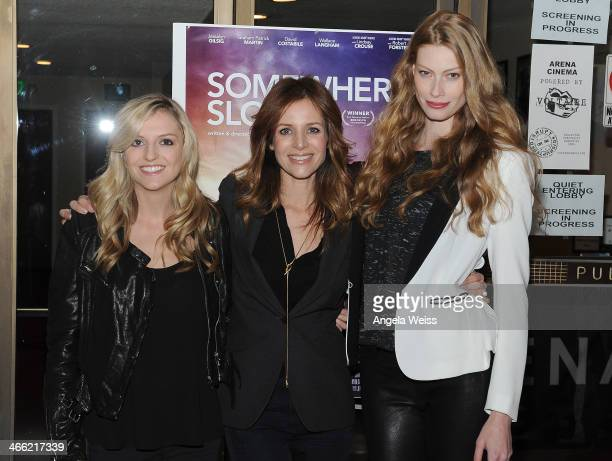 Actresses Maude Hirst Jessalyn Gilsig and Alyssa Sutherland arrive at the LA opening night screening of Logolite Entertainment Screen Media Films'...