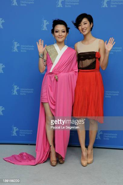 Actresses Mavis Fan and Kwai Lun Mei attend the Flying Swords Of Dragon Gate Photocall during day nine of the 62nd Berlin International Film Festival...