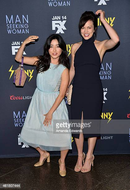 Actresses Maya Erskine and Britt Lower arrive at the Red Carpet Premiere of FXX's It's Always Sunny In Philadelphia and Man Seeking Woman at the DGA...