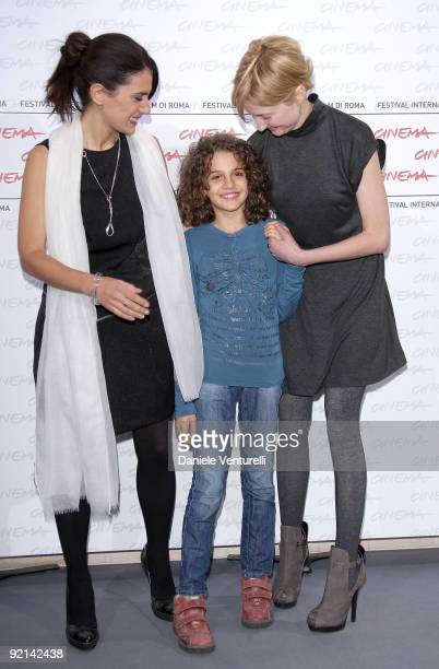 Actresses Maya Sansa Greta Zuccheri Montanari and Alba Rohrwacher attend the 'L'Uomo Che Verra' Photocall during Day 7 of the 4th International Rome...