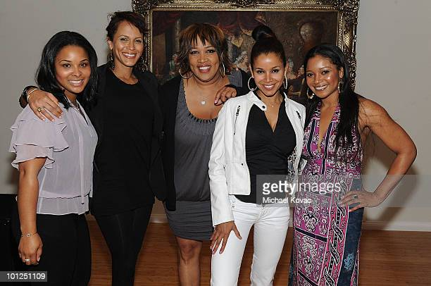Actresses Mechelle Epps Nicole Ari Parker Kym Whitley Mari Morrow and Tamala Jones attend the 35 And Ticking Film Wrap Party on May 28 2010 in...