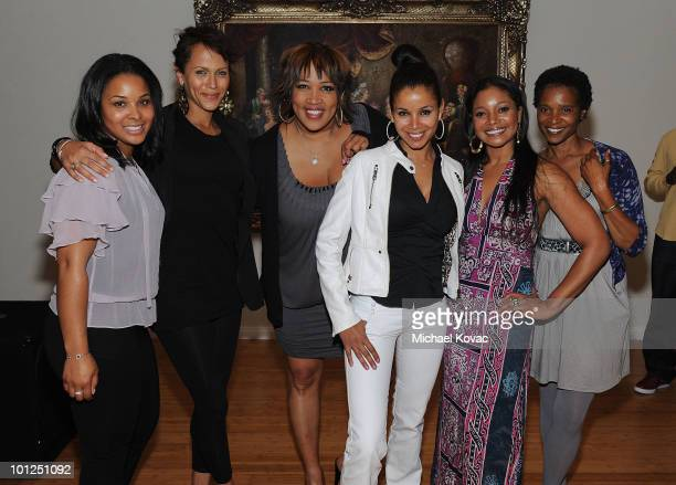 Actresses Mechelle Epps Nicole Ari Parker Kym Whitley Mari Morrow Tamala Jones and Carnetta Jones attend the 35 And Ticking Film Wrap Party on May 28...