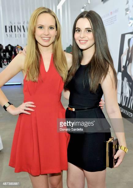Actresses Megan Martin and Vanessa Marano attend BCBGMAXAZRIA 25th Anniversary Retrospective Celebration at BCBG Max Azria Group LLC Corporate...