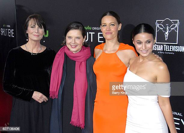 Actresses Mel Harris Isabella Rossellini KaDee Strickland and Emmanuelle Chriqui attend the premiere of Hulu's 'Shut Eye' at ArcLight Hollywood on...