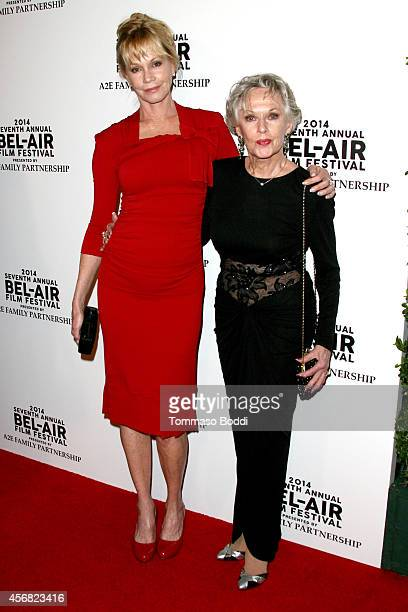 Actresses Melanie Griffith and Tippi Hedren attend the 7th annual BelAir Film Festival opening night gala on October 7 2014 in Beverly Hills...