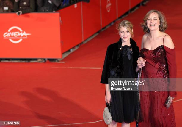 Actresses Melanie Laurent and Greta Scacchi attend 'L'Amour Cache' premiere during day 3 of the 2nd Rome Film Festival on October 20 2007 in Rome...