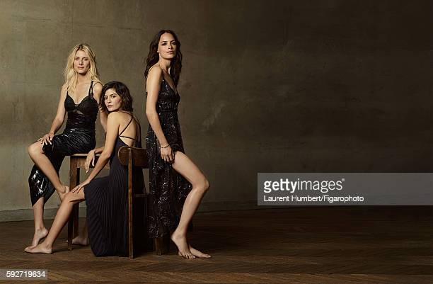 Actresses Melanie Laurent Audrey Tautou and Berenice Bejo are photographed for Madame Figaro on May 25 2016 in Paris France Laurent Dress bra Bee My...