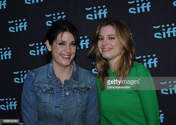 Actresses Melanie Lynskey and Gillian Jacobs attend the Seattle International Film Festival premiere of Teddy Bears at Uptown Cinema on June 1 2013...