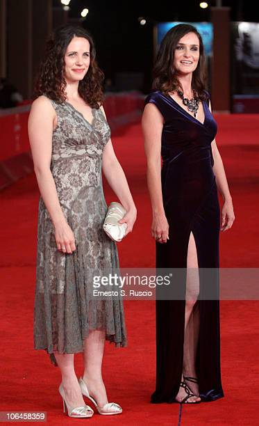 Actresses Melanie Munt and Nina Deasley attend the Little Sparrows premiere during the 5th International Rome Film Festival at Auditorium Parco Della...