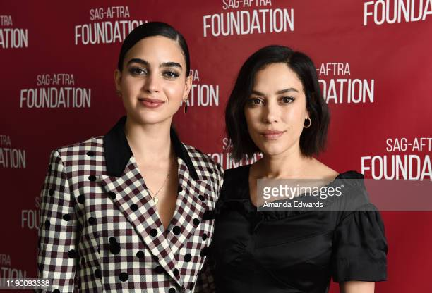 Actresses Melissa Barrera and Mishel Prada attend the SAGAFTRA Foundation Conversations with VIDA at the SAGAFTRA Foundation Screening Room on...