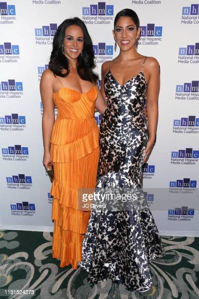 Actresses Melissa Fumero and Stephanie Beatriz attend the 22nd Annual National Hispanic Media Coalition Impact Awards Gala at Regent Beverly Wilshire...